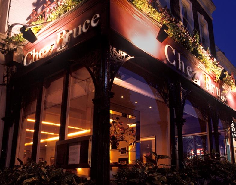 Chez Bruce exterior at night