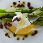 Asparagus and polenta